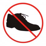 You are now entering a shoe-free zone