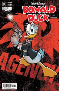 Donald Duck has a gun